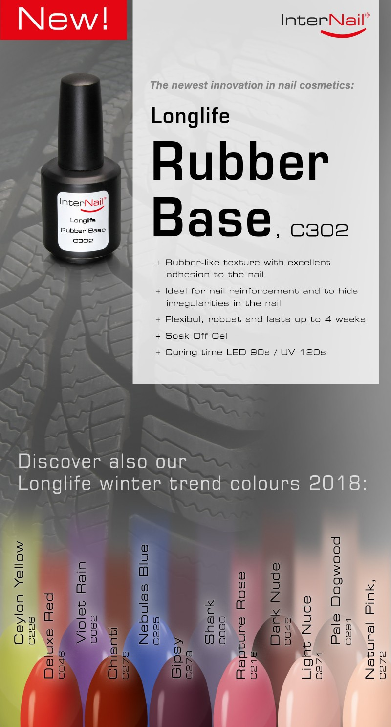 Longlife Rubber Base and the Longlife winter colours 2018
